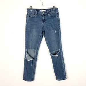 RSQ Soho Boyfriend Jeans Ripped Knees Distressed